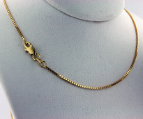 "Yellow Gold 16"" Box Chain"