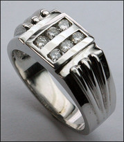 .42ct Diamond Men's White Gold Ring