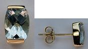 14k Aqua Studs - Aquamarine Stud Jewelry