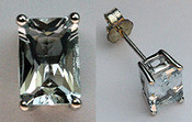 Aquamarine Stud Earrings (White Gold 14k Studs)