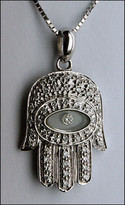 Hamsa Pendant Jewish Hamsa in Diamonds