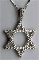 1/2ct Diamond Jewish Star of David