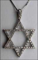 Diamond Jewish Star in 18kt White Gold Star of David