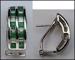 Emerald Huggies - Emerald and Diamond Huggie Earrings