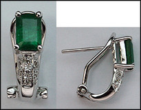 Emerald & Diamond Clip Earring