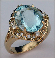 Aquamarine in 14kt Yellow Gold Aquamarine Ring