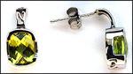 2.70ct Peridot Earrings in White Gold