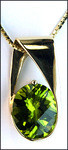 Peridot Gold Slide Pendant - 5.17ct