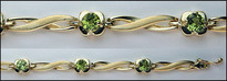 4.1ct Peridot Gold Bracelet (14kt Yellow)