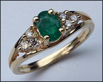 .72ct Emerald Gemstone Ring with 6 Diamonds