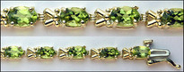 9.02ct Ladies Peridot & Gold Bracelet