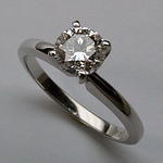 1.00ct Solitaire Diamond Engagement Ring - Certified