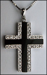14kt Diamond Onyx Cross with 1/4ct Diamond
