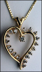 3/4ct Open Diamond Heart Pendant