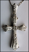.46ct Diamond Cross Pendant - 14kt White Gold