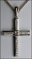 1.74ct Diamond Cross set in 14kt White Gold
