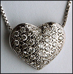 14kt Pave Heart with .81ct Pave Set Diamonds