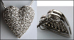 14kt Pave Heart with 1.16ct Pave Set Diamonds