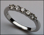 1/2 ct, Petite Ladies Diamond Wedding Band