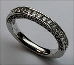 .71ct, 3-Way Diamond Wedding Band, 53 Diamonds