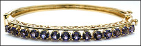 Amethyst Yellow Gold Bangle, 3.5ct Amethyst