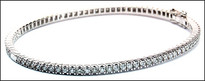 Diamond Eternity Bangle, 1.57ct G Color Diamonds, 18kt White