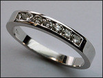 .52ct, Channel Set, Mens White Gold Diamond Band