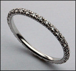 1/4 Carat Diamond Eternity Wedding Band, 14k