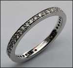 2 1/2mm Diamond Eternity Wedding Band - 18kt White Gold