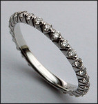 Diamond Eternity Band with Single Row of Round Diamonds