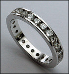 Channel Set Diamond Eternity Band, 3mm
