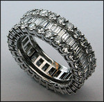 Diamond Eternity Band set in 18kt White Gold