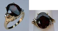 Garnet Ring with Diamonds