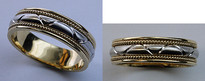 14kt Gold Wedding Band with Milgrain Design