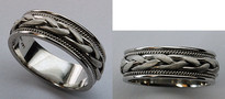 14kt Gold Braided Mens Wedding Band