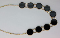 Round Black Onyx Necklace
