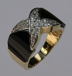 Onyx Band with Diamonds (Ladies)