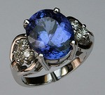 Tanzanite Ring with Diamonds R604 510