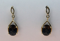Smokey Topaz Gold Earrings EGE128