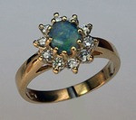 Opal Ring with Diamonds R423
