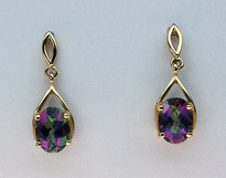 Mystic Topaz Gold Earrings EGE167 405