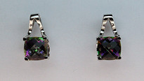 Mystic Topaz Gold Earrings - 5.4ct
