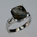 Smokey Topaz Gold Ring EGR867