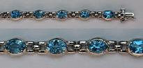 14kt Gold Blue Topaz Bracelet 42ST