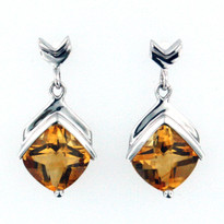 14kt Gold Citrine Earrings EGE098