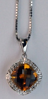 14kt Gold Citrine and Diamond Pendant HO6531209