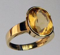 14kt Gold Citrine Ring 01Y75ML