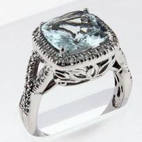 2.92ct  Aquamarine Ladies Ring