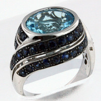 14kt Gold Blue Topaz  Ring 3Y52M