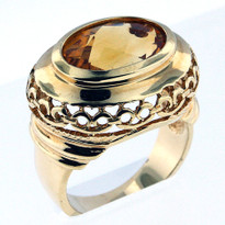 14kt Gold Citrine Ring 01YML-1